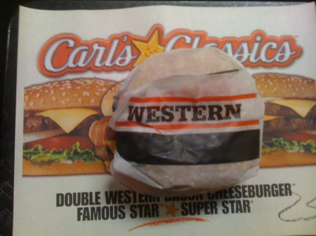 Carl's Jr. Western Bacon Cheeseburger