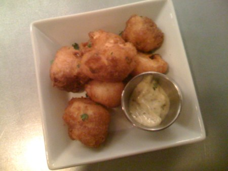 hudson house cauliflower fritters